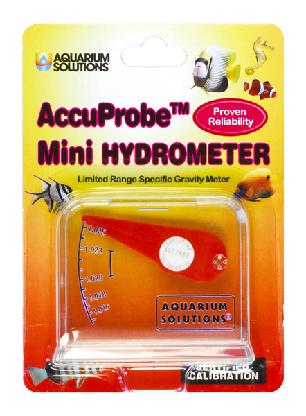 Aquarium Solutions® AccuProbe™ Mini Hydrometer - Limited Range Specific Gravity Meter